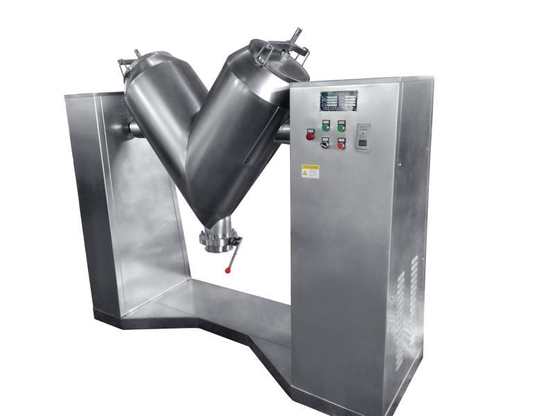 V Shape Powder Chocolate Machine Shaped High Efficiency Vacuum Mixer