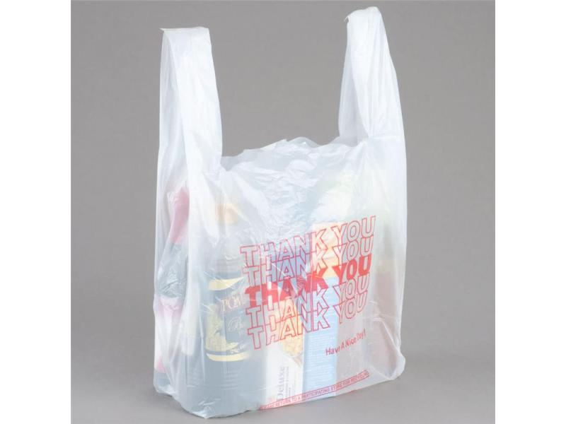 Customized t-shirt plastic thank you bag