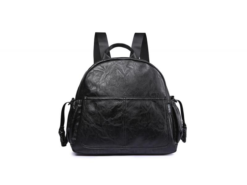 Fashion Maternity Nappy Changing Bag for Mother Black Large Capacity Fashion Diaper Bag with 2 Strap