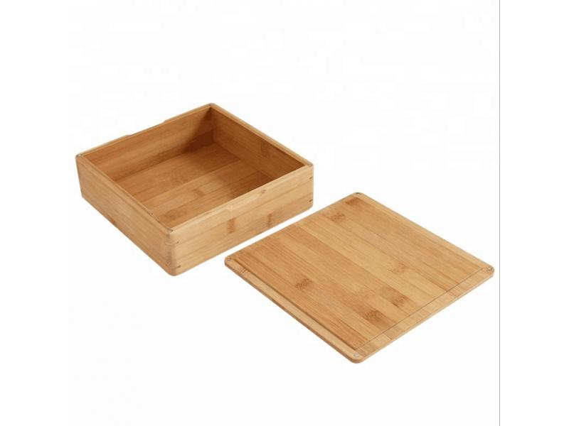 Manufacturers sell big gift box bamboo badge box natural bamboo car accessories packaging boxes