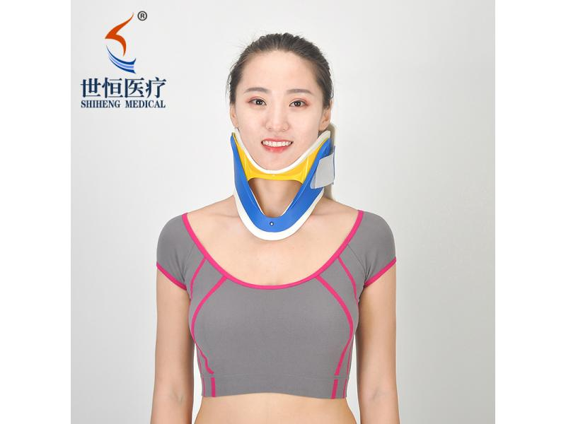 Free size cervical collar blue, yellow color neck brace emergency use