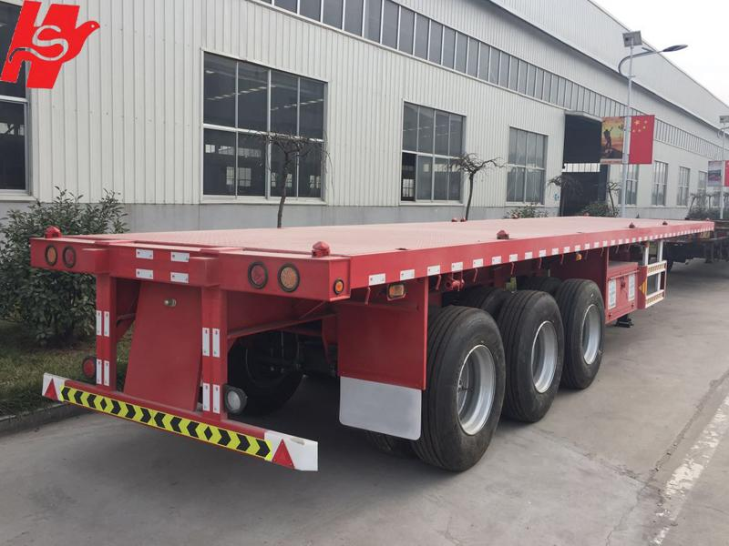 Hot sale 40ft flatbed container semi trailer made in China