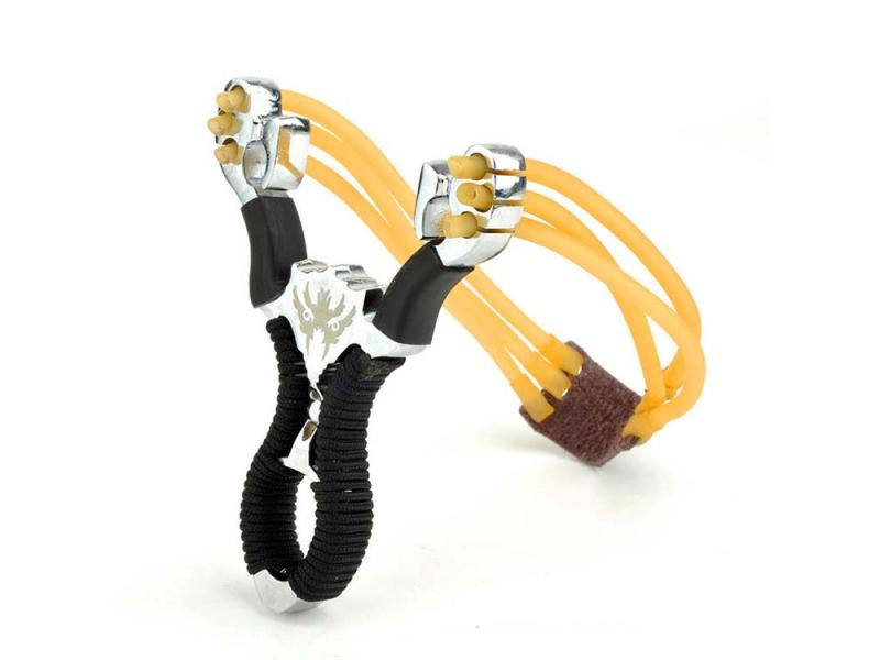 Slingshot Wrist Folding Sling Shot Powerful Hunting Slingshot Catapult Stainless Steel Fishing Sling