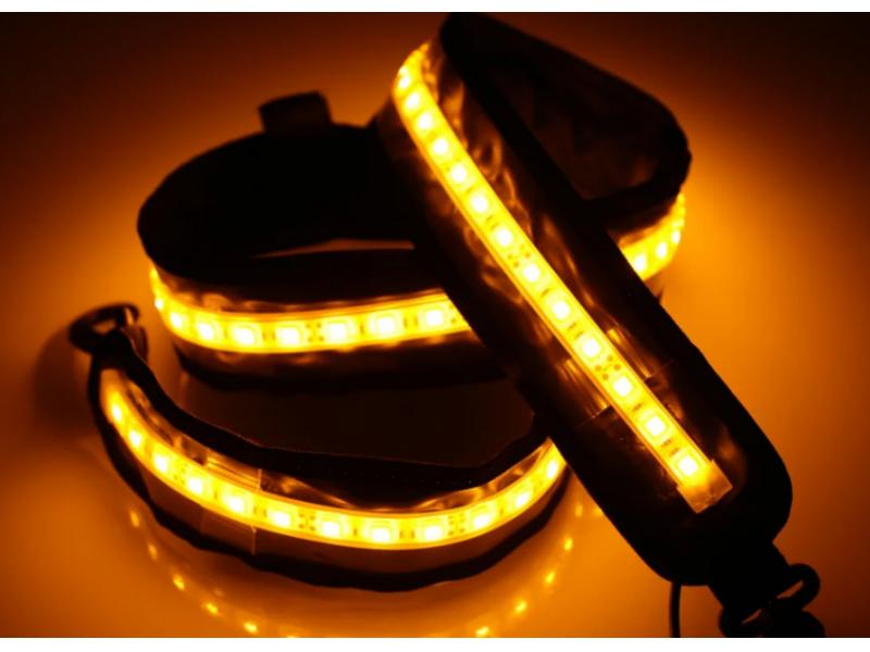 USB 5V to 12V Waterproof IP65 Dual color 1200mm 14W LED Camping kits LED Flexible light strip tent l