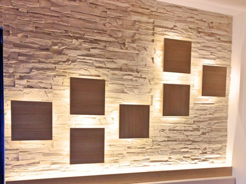 DryInsta Faux Stone Panel for Restaurant Coffee Bar Dinning Hall Bedroom Decoration Made of FRP in R