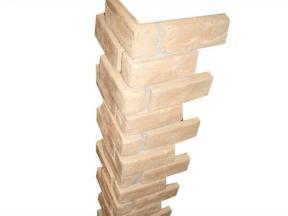 Durable FRP wall covering brick corner