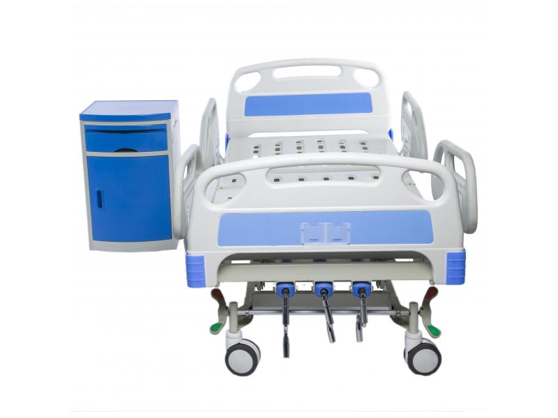 Factory 3 Functional Hospital Nursing Home Medical Three Crank Manual Hospital Beds