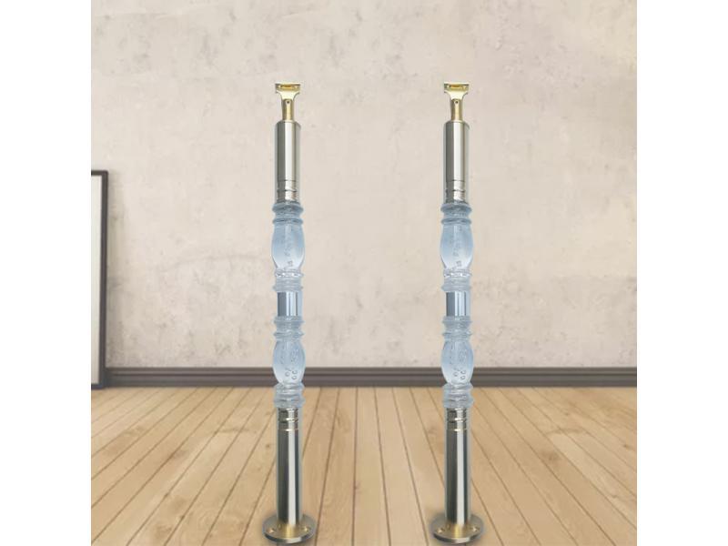Climbing ladder column transparent acrylic stair railing column indoor household railing