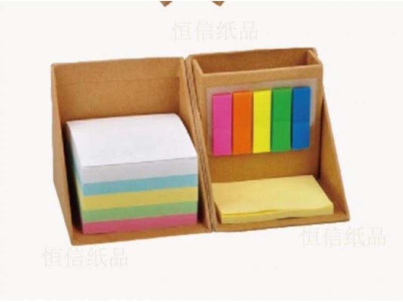 New box notes, eco-friendly kraft paper combination post-it, creative toilet, customizable logo
