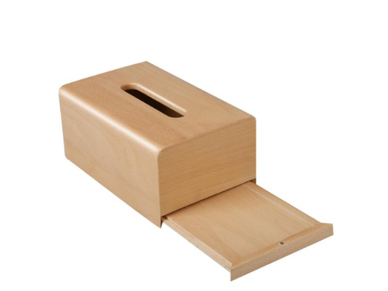 Creative wooden paper box multifunctional household paper towel box living room desktop wooden box c