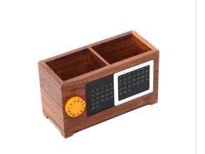 Wooden pen container customized multi-functional office desktop wooden storage box creative gifts ca