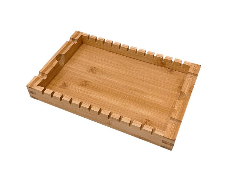 Creative bamboo grill tray stacked with bamboo tray rectangular tea tray wooden cafe BBQ tray