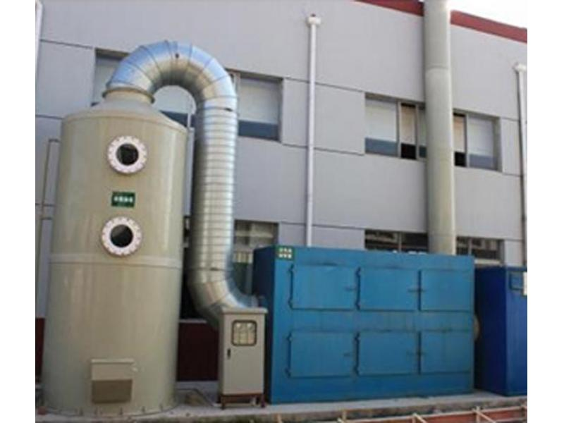 Water spray exhaust gas purification tower