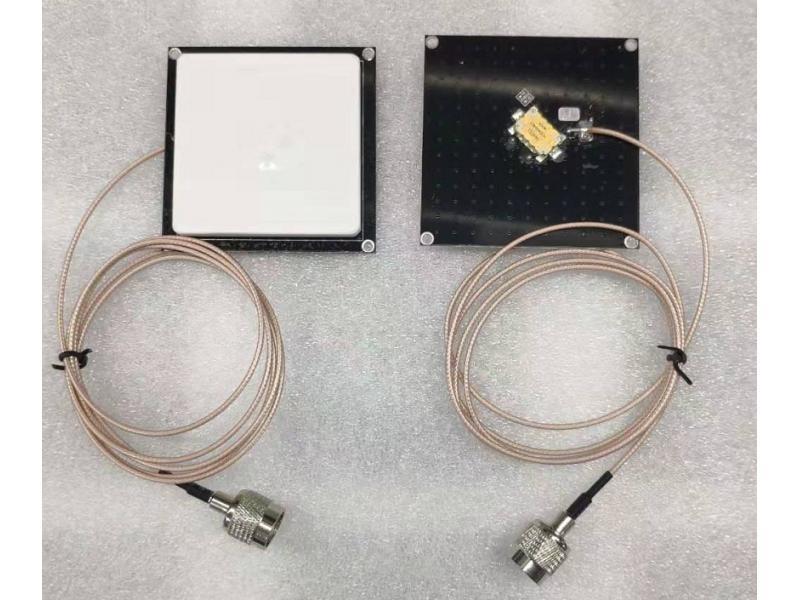 UHF 60mm x 60mm ceramic antenna -- 70mm x 70mm reflex plate