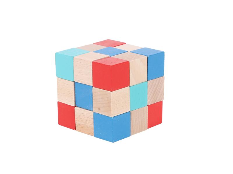 Wooden magic cube