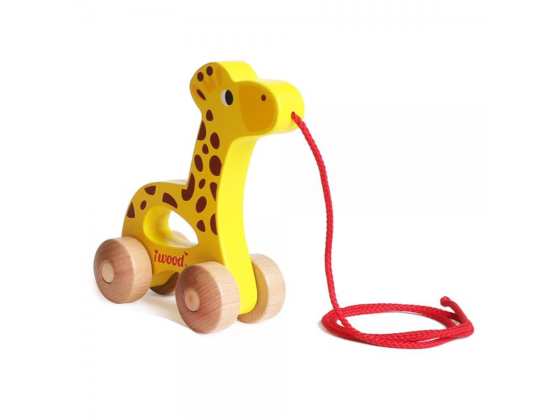 Pull along toy Giraffe
