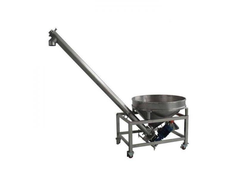 Inclined Automatic Auger Hopper Powder Screw Feeder Conveyors Feeding Machines