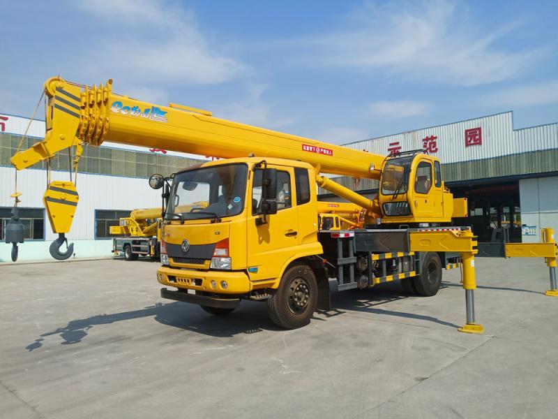 The new 16 ton dong feng tian jin truck crane