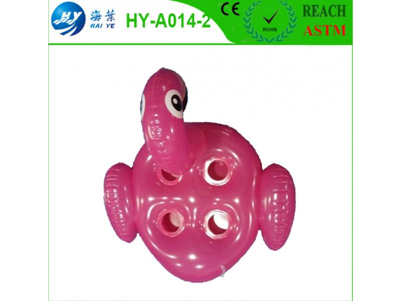 Factory production inflatable PVC cygnet water float cup holder environmental protection PVC cygnet