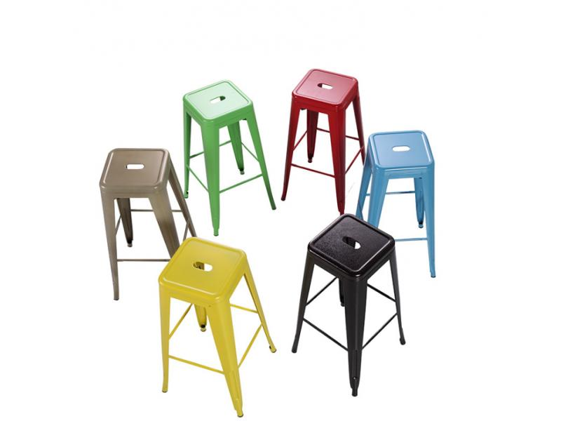 Simple modern industrial style metal bar stool iron high stool coffee bar stool