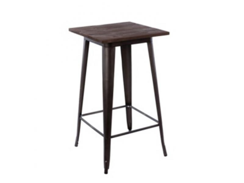Tin solid wood table and chair combination American retro bar coffee shop milk tea shop bar high tab