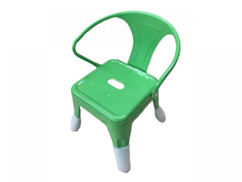 Children iron plate dining chair kindergarten learning backrest children industrial wind metal chair