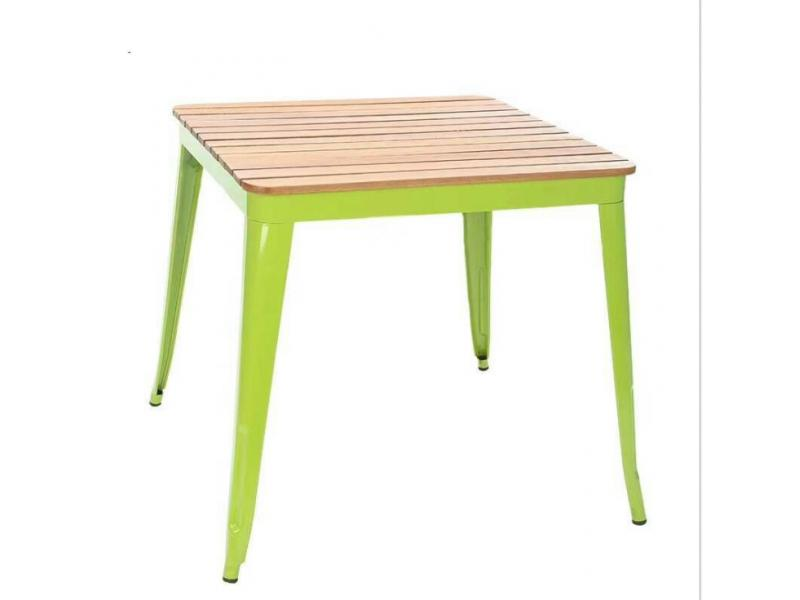 Tiyi outdoor table and chair combination tin solid wood cafe outdoor balcony courtyard long table pl