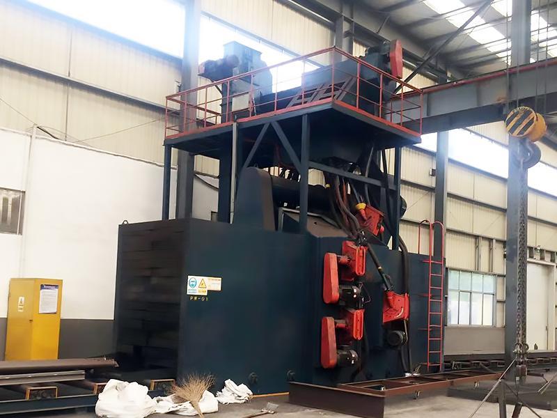 H-shaped steel shot blasting machine