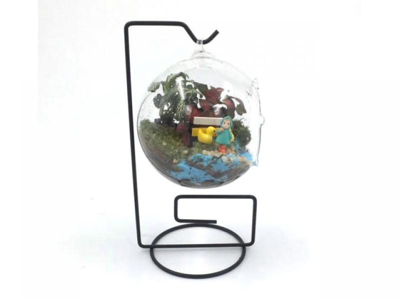 Universal micro landscape hanger hook iron frame new glass bottle hanger iron art barbie geometric f
