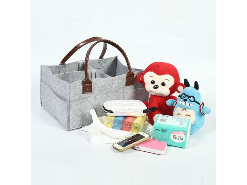 Portable felt organizer baby diaper caddy Mummy bag