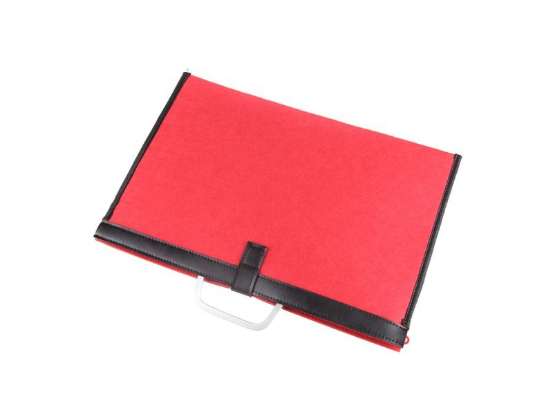 felt laptop carrier bag document folder computer suitcse with customized size