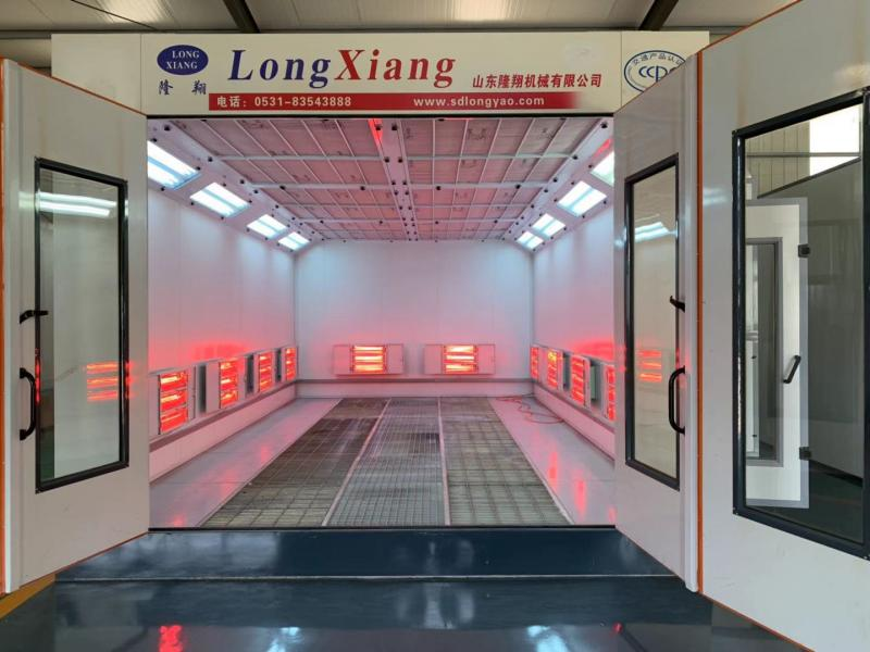 large bus spraybooths with industrial paint system