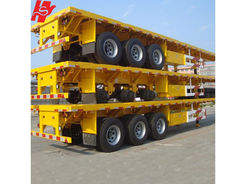 20ft & 40ft flatbed semi trailer, container trailer for sale