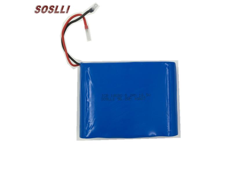 SOSLLI 18.5V 5200mAh 5S2P 18650 rechargeable lithium ion battery pack for widely application