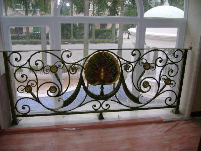 modern interior wrought iron railing stairs