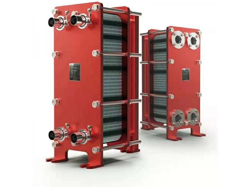 Vacuum packer hydraulic oil cooler plate cooler