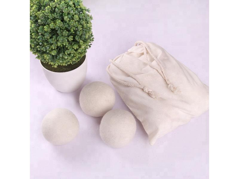 Eco Friendly 7cm Organic customized color 6-pack gray wool Laundry dryer balls