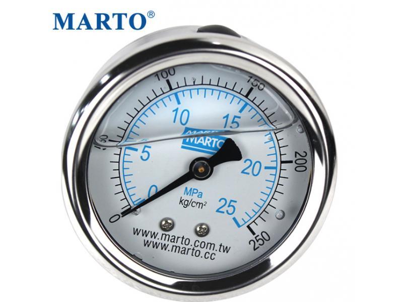 Cylinder pressure gauge oil-filled stainless steel y-100 mechanical shock resistance k\m oil pressu