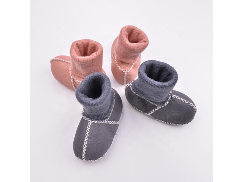 factory wholesale felt shoes sheepskin baby fur boots winter