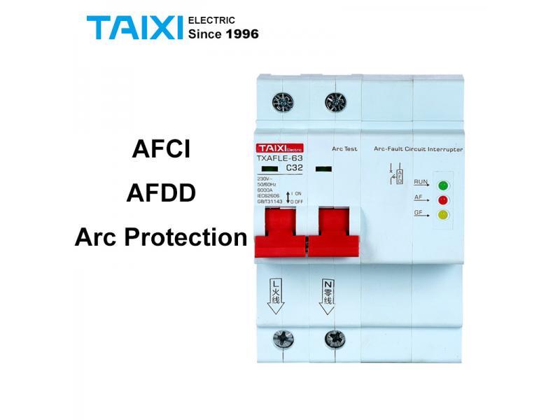 AFCI Arc Fault Circuit Breaker Interrupte AFDD Arc Protector Detector 1P+N 16A 220V 110V MCB