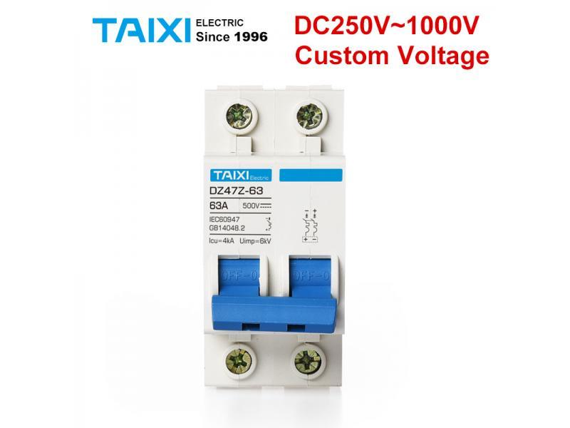 Solar energy PV MCB DC 1000V Miniature Circuit Breakers 2P 60A 500V 600V photovoltaic power generati