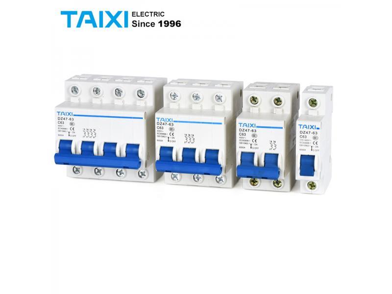 MCB DZ47-63 1P 2P 3P 4Pole C32A Miniature Circuit Breaker DZ47 60Hz 10A 16A 20A 25A 40A 63A C type C