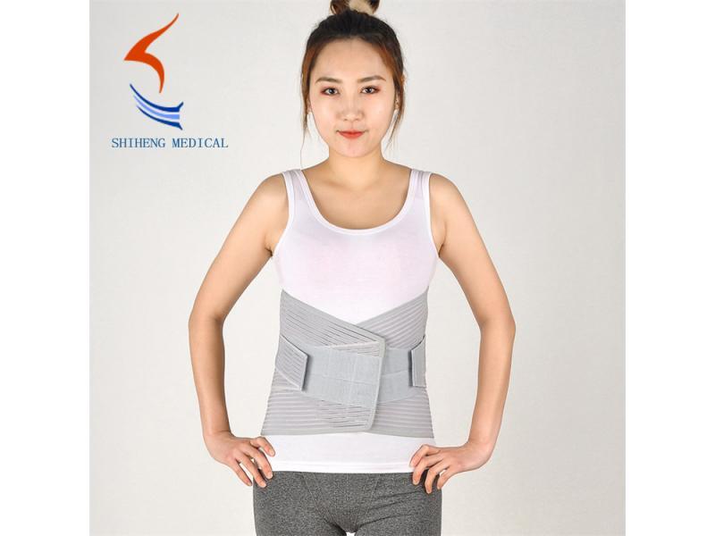 Waist brace grey color back pain belt S - XXL size lumbar support