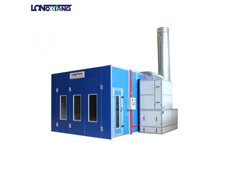 large bus spray booths with industrial paint systems