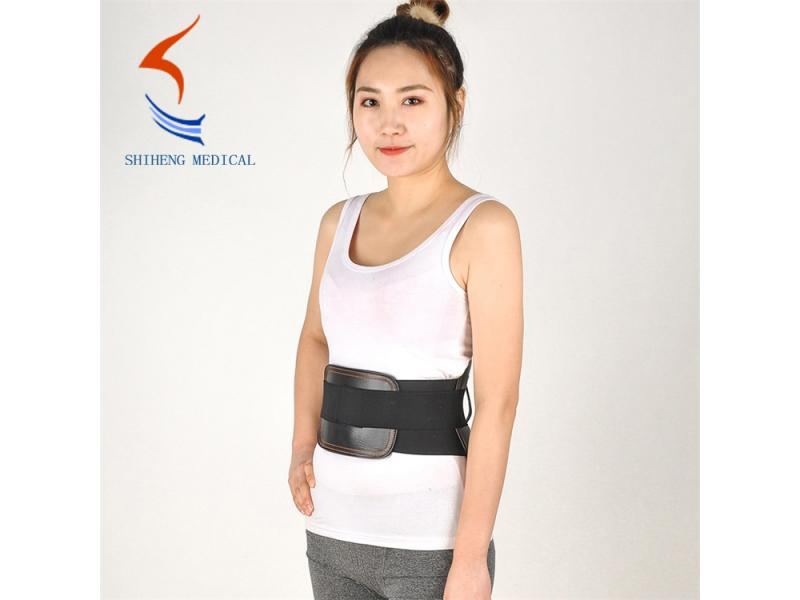 Lumbar brace support leather back pain belt widely used