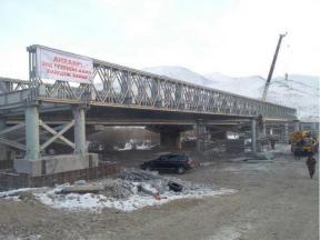 Portable Stability Bailey Truss Bridge , Temporary Modular Bridge Elegant Appearance