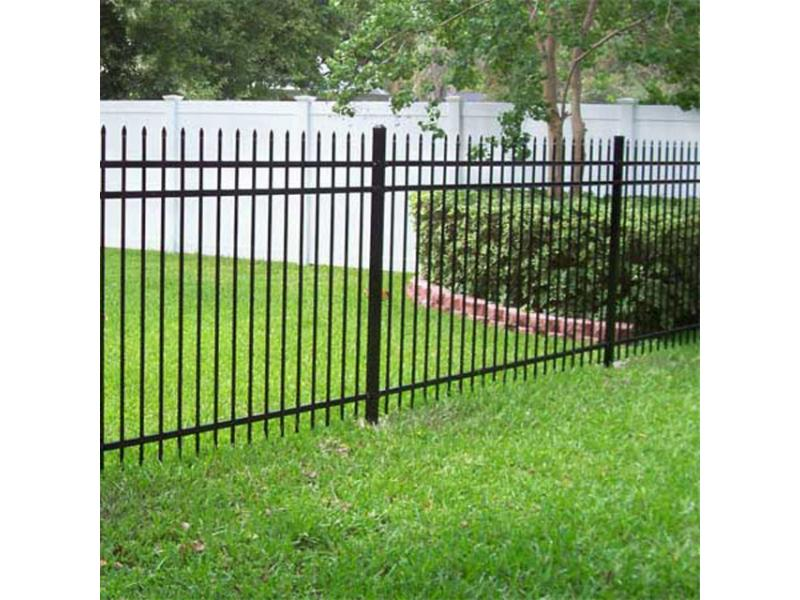 Metal galvanized steel spear top fence panels