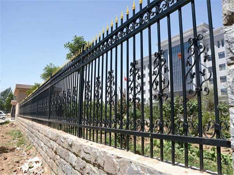 Galvanized steel steel fence decorative metal fence panels