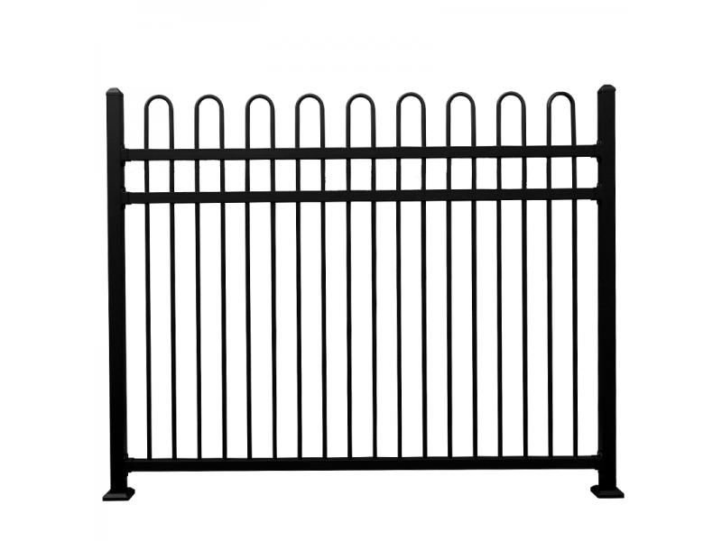 Galvanized steel safety fence modern metal fence panels