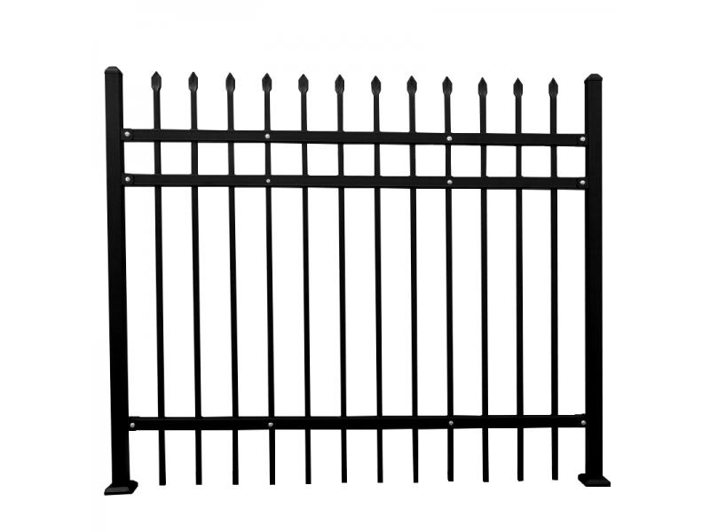 Black spear top cheap pool fence metal fence